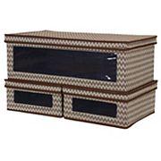 Household Essentials 3 pc Chevron Vision Storage Box Set