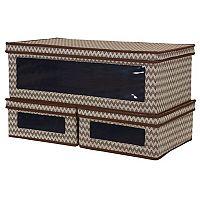 Household Essentials 3-piece Chevron Vision Storage Box Set