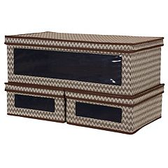 Household Essentials 3-piece Chevron Vision Storage Box Set
