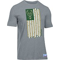 Men's Under Armour Milwaukee Bucks Court Flag Tee