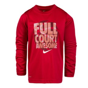 """Boys 4-7 Nike """"Full Court Awesome"""" Long Sleeve Graphic Tee"""