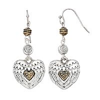 Believe In Wing Heart Drop Earrings