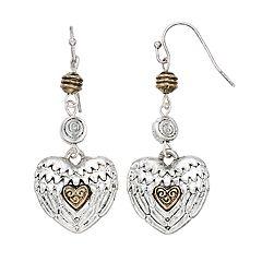 Believe In Wing Heart Drop Earrings