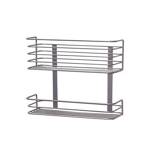 Hinge-It Cabinet Door 2-Tier Storage Rack