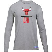 Men's Under Armour Chicago Bulls Charged Lockup Long-Sleeve Tee