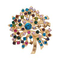 Napier Simulated Crystal Flower Pin