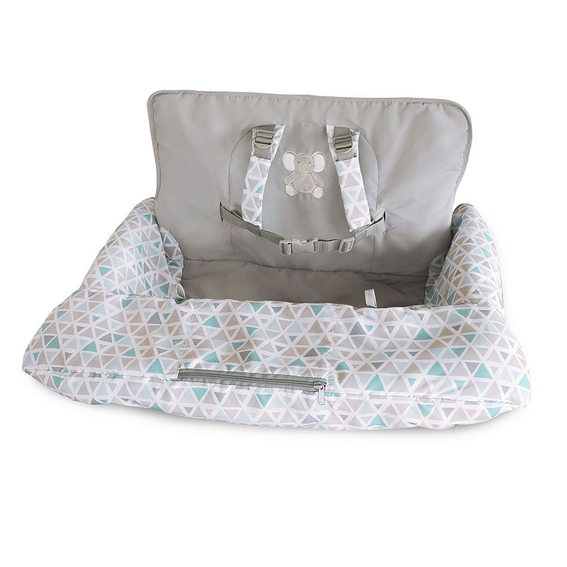 Carter's Elephant Shopping Cart Cover Add cozy comfort for your little one while shopping with this Carter's elephant shopping cart cover. In gray. Elephant graphics Padded seat & back for comfort Helps deter dirt & germs from baby's hands Ideal for shopping carts or high chairs Hook & loop fasteners Buckle waist closure Elastic shoulder straps FABRIC & CARE Polyester, plastic Machine wash Imported Size: One Size. Color: Multicolor. Gender: unisex. Age Group: kids.