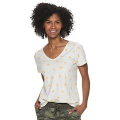 78ce7592f Womens Orange V-Neck Tops & Tees - Tops, Clothing | Kohl's