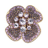 Napier Cubic Zirconia Purple Flower Pin