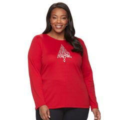 Plus Size Croft & Barrow® Holiday Tee