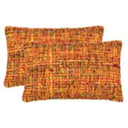 Safavieh Carrie Tweed Oblong Throw Pillow 2-piece Set