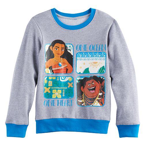"Disney's Moana Girls 7-16 Moana & Maui ""One Ocean One Heart"" Pullover Sweatshirt"