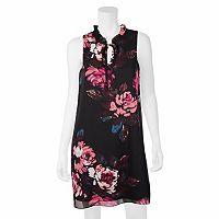 Juniors' IZ Byer Floral Ruffle Tie Shift Dress