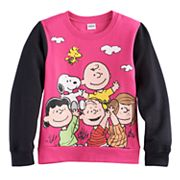 Girls 7-16 Peanuts Gang Graphic Colorblock Pullover Sweatshirt