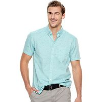 Big & Tall SONOMA Goods for Life™ Modern-Fit Textured Button-Down Shirt