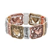"Believe In ""Faith, Hope, Love"" Heart Stretch Bracelet"