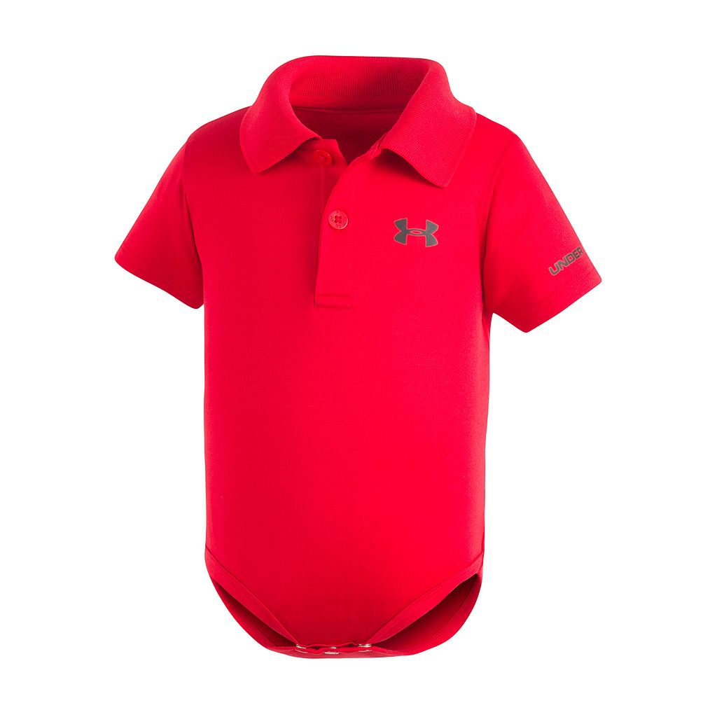 Baby Boy Under Armour Logo Polo Bodysuit