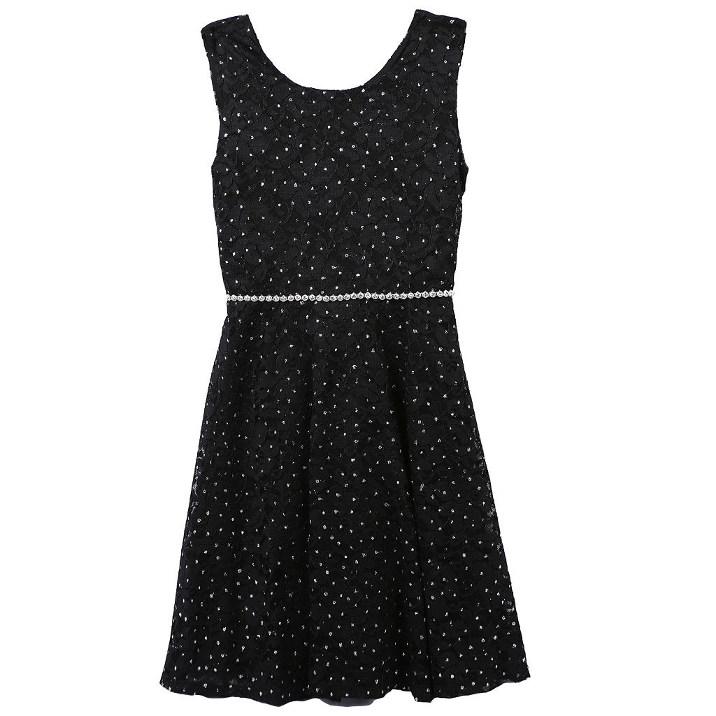 Girls 7-16 & Plus Speechless Glitter Lace Dress