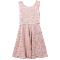 Girls 7-16 & Plus Speechless Glitter Lace Dress