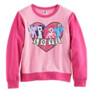 Girls 7-16 My Little Pony Twilight Sparkle, Rarity, Pinkie Pie & Rainbow Dash Raglan Pullover Sweatshirt