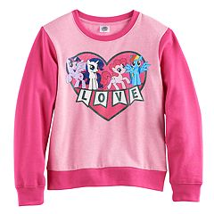 Girls 7-16 My Little Pony Twilight Sparkle, Rarity, Pinkie Pie & Rainbow Dash Raglan Pullover Sweatshirt