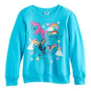 Girls 7-16 My Little Pony Twilight Sparkle, Pinkie Pie & Rainbow Dash Raglan Pullover Sweatshirt