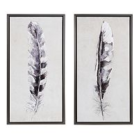 Madison Park Flight Feathers Framed Wall Art 2 pc Set
