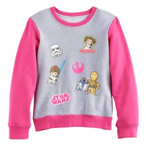 Girls 7-16 Star Wars Graphic Colorblock Pullover Sweatshirt