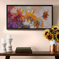 Madison Park Golden Sunflowers Canvas Wall Art