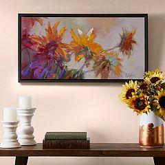 Madison Park Golden Sunflowers Canvas Wall Art