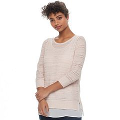 Women's Apt. 9® Layered Pointelle Sweater