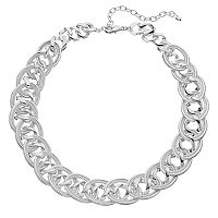 Napier Folded Oval Link Chunky Necklace