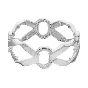 Napier Foldover Link Stretch Bracelet