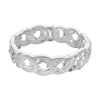 Napier Textured Round Stretch Bracelet