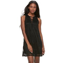 Juniors' Liberty Love Lace Shift Dress
