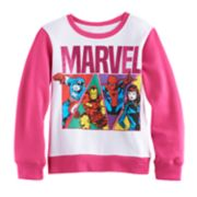 Girls 7-16 Marvel Captain America, Iron Man, Spider-Man & Black Widow Pullover Sweatshirt