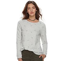 Women's SONOMA Goods for Life™ Feather Print French Terry Top