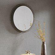 Madison Park Zoe Large Iron Circle Mirror