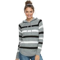Juniors' Cloud Chaser Hooded Knit Top