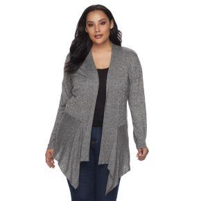 Plus Size Apt. 9® Angled Sweater Cardigan