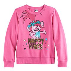 DreamWorks Trolls Poppy Girls 7-16 'Happy Vibes' Foil Graphic Pullover Sweatshirt