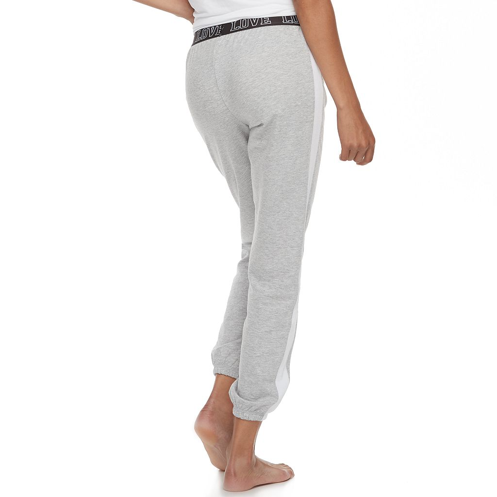 Juniors' SO® Pajamas: Velour Piecing Jogger Pants