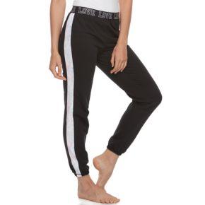 Juniors' SO® Pajamas: Velour Piecing Jogger Pants