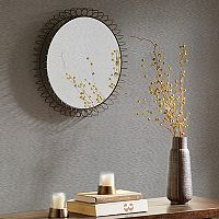 Madison Park Zoe Medium Iron Circle Mirror