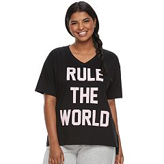 Juniors' Plus Size SO® Pajamas: Short Sleeve Graphic Tee