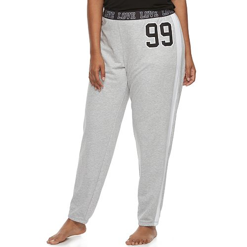 Juniors' Plus Size SO® Pajamas: Velour Piecing Jogger Pants