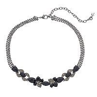 Napier Leaf Multi Strand Choker Necklace