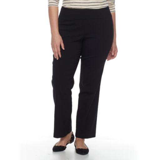 Plus Size Apt. 9® Pull-On Millennium Bootcut Pants