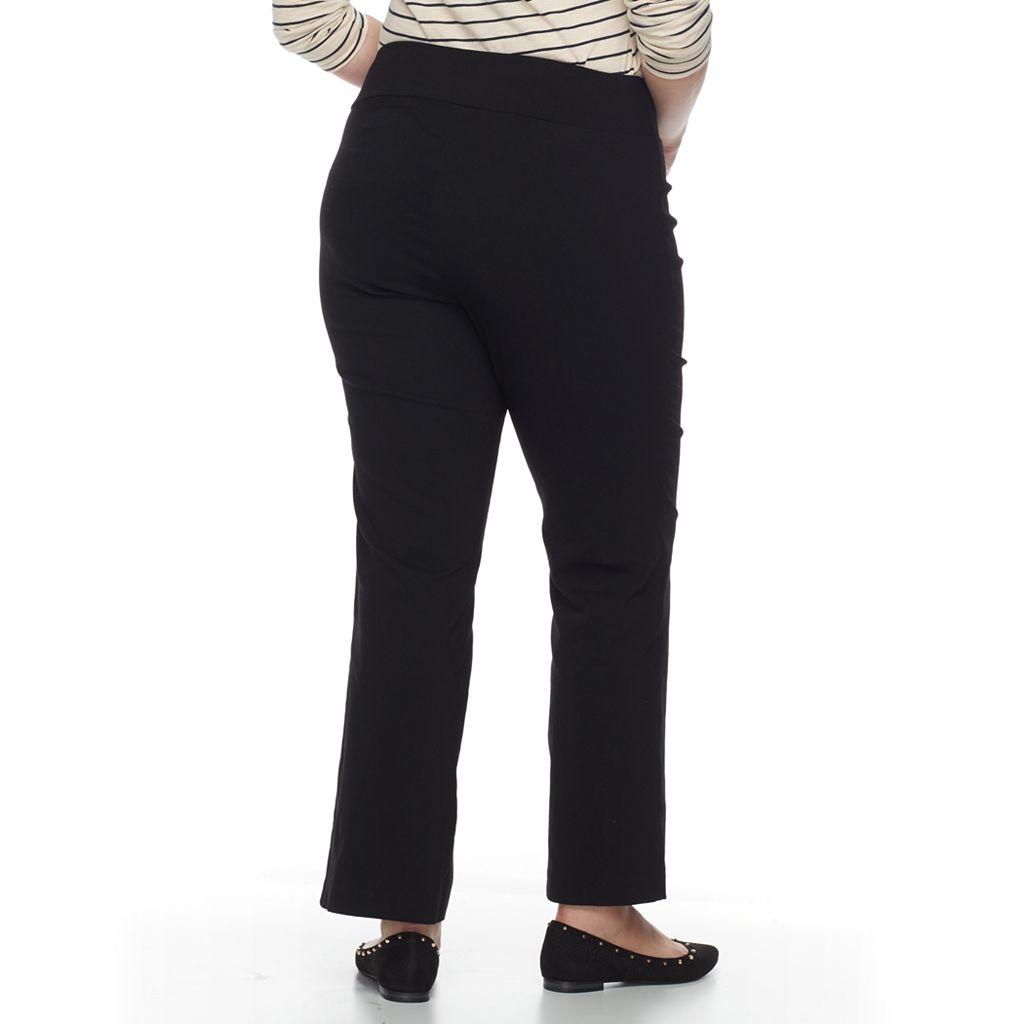 Plus Size Apt. 9® Pull-On Millennium Bootcut Pants