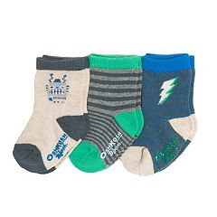 Baby/Toddler Boy OshKosh B'gosh® 3-pk. Robots & Striped Crew Socks